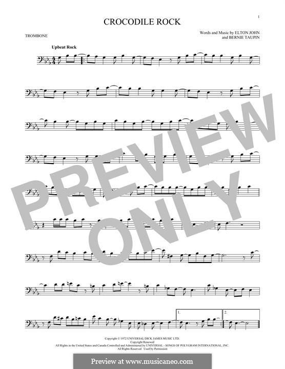 Crocodile Rock: For trombone by Elton John