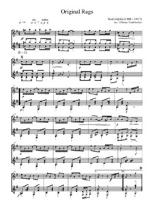 Original Rags: Für Flöte und Gitarre by Scott Joplin