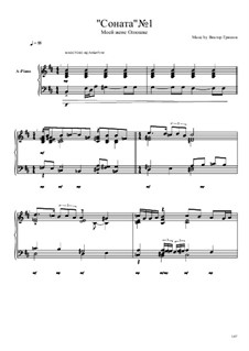 Соната No.1: Соната No.1 by Viktor Gryaznov