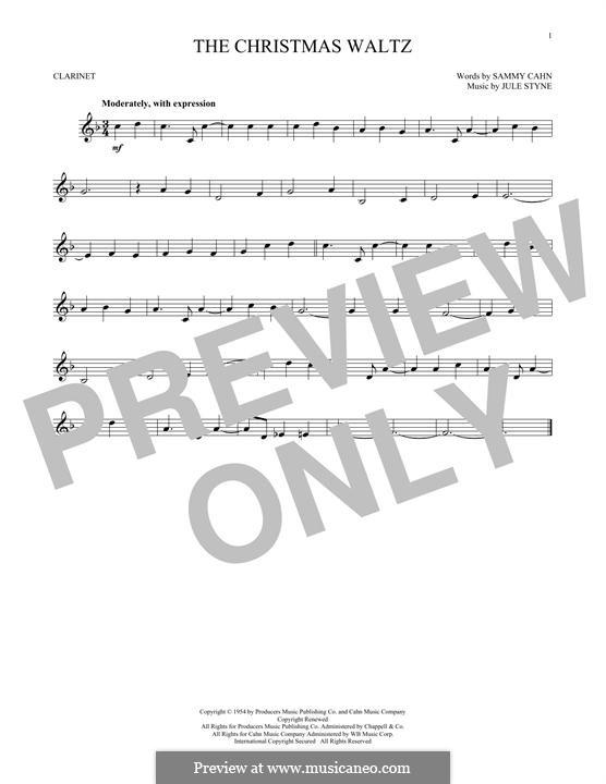 The Christmas Waltz: Für Klarinette by Jule Styne