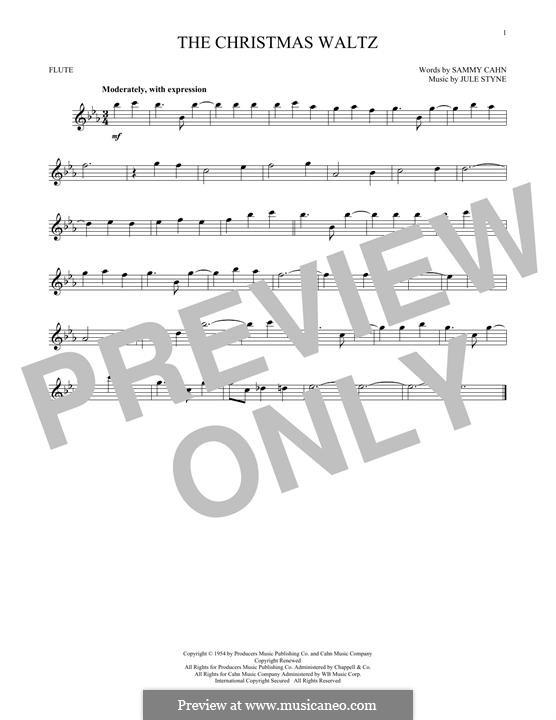 The Christmas Waltz: Für Flöte by Jule Styne