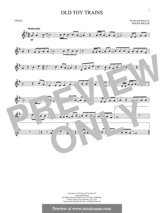 Old Toy Trains: Für Violine by Roger Miller