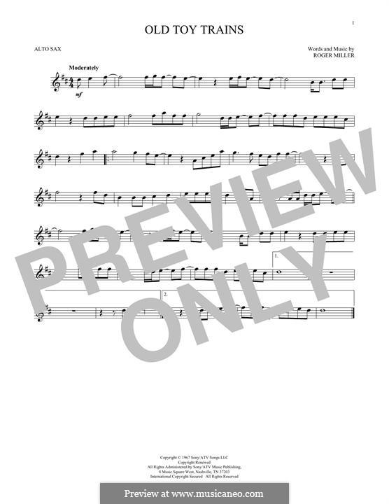Old Toy Trains: Für Altsaxophon by Roger Miller