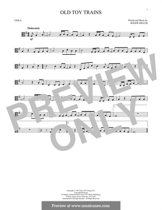Old Toy Trains: For viola by Roger Miller