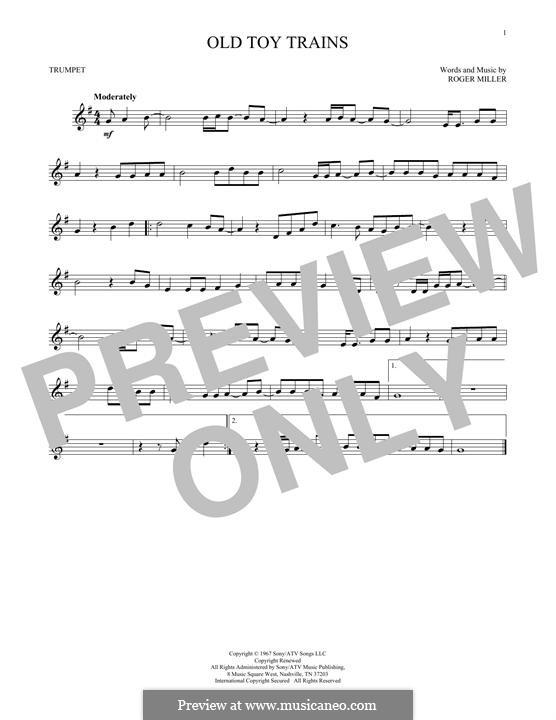 Old Toy Trains: Für Trompete by Roger Miller
