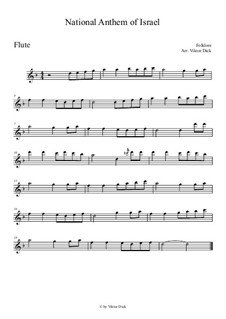 HaTikwa: Für Flöte by folklore