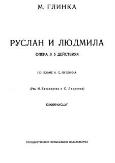 Vollständige Oper: Für Solisten, Chor und Klavier by Michail Glinka