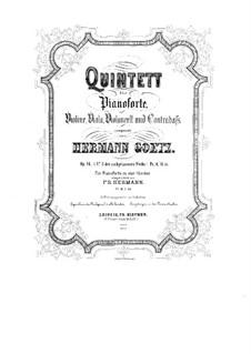 Klavierquintett in c-Moll, Op.16: Vollpartitur by Hermann Götz