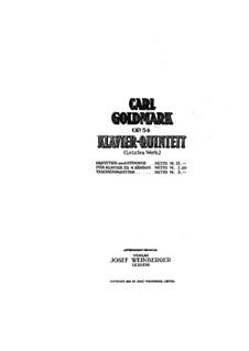 Klavierquintett Nr.2 in cis-Moll, Op.54: Vollpartitur by Karl Goldmark