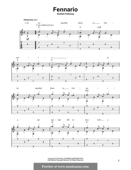 Fennario: Für Gitarre by folklore
