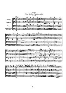 Vollständige Teile: Vollpartitur by Wolfgang Amadeus Mozart