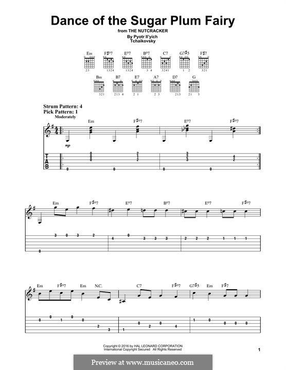 Nr.3 Tanz der Zuckerfee: Für Gitarre by Pjotr Tschaikowski