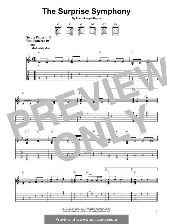 Teil II: Theme, for guitar by Joseph Haydn