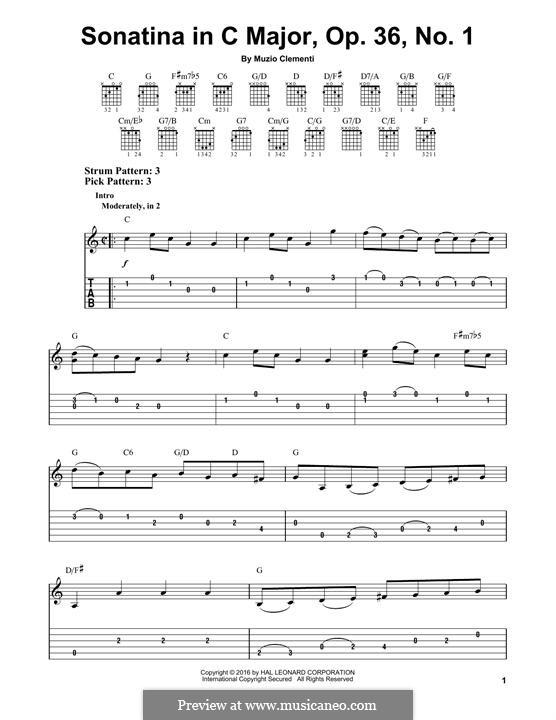 Sonatine Nr.1: Für Gitarre by Muzio Clementi