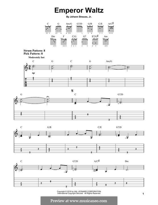 Kaiser-Walzer, Op.437: Für Gitarre by Johann Strauss (Sohn)