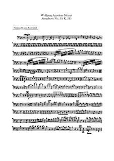 Sinfonie Nr.39 in Es-Dur, K.543: Cello- und Kontrabass-Stimme by Wolfgang Amadeus Mozart