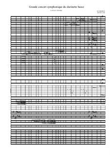 Grande concert symphonique du clarinette basse, MVWV 1051: Grande concert symphonique du clarinette basse by Maurice Verheul