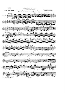 Fantasie über Themen aus 'Faust' von Gounod, Op.13: Solostimme by Pablo de Sarasate