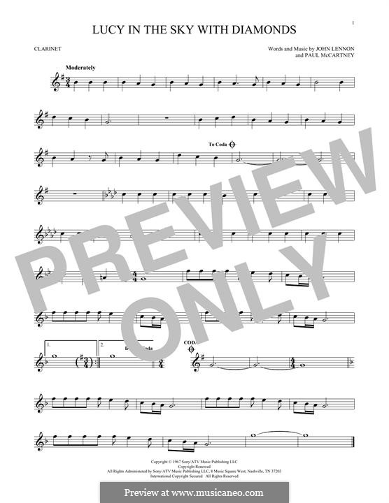 Lucy in the Sky with Diamonds (The Beatles): Für Klarinette by John Lennon, Paul McCartney