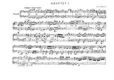 Streichquartett Nr.14 in G-Dur, K.387: Für Klavier, vierhändig by Wolfgang Amadeus Mozart