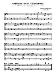 Acht Pastoralen für die Weihnachtszeit, Op.22: Für Altflöte und Flöte by Valentin Rathgeber