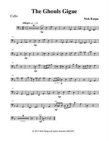 Drei Tänze für Halloween: No.3 Ghouls Gigue - cello part by Nick Raspa