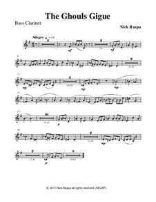 Drei Tänze für Halloween: No.3 Ghouls Gigue - bass clarinet part by Nick Raspa