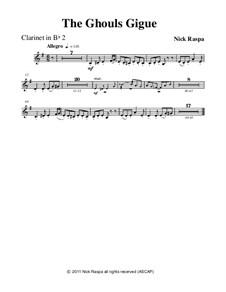 Drei Tänze für Halloween: No.3 Ghouls Gigue - clarinet 2 part by Nick Raspa