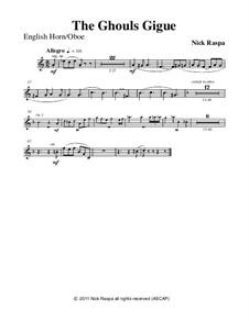 Drei Tänze für Halloween: No.3 Ghouls Gigue - oboe/english horn part by Nick Raspa