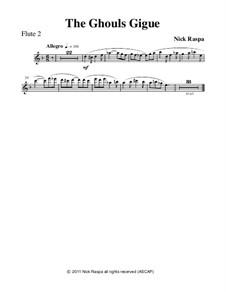 Drei Tänze für Halloween: No.3 Ghouls Gigue - flute 2 part by Nick Raspa