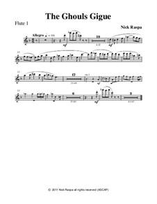 Drei Tänze für Halloween: No.3 Ghouls Gigue - flute 1 part by Nick Raspa