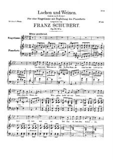 Lachen und Weinen, D.777 Op.59 No.4: Für hohe Stimme und Klavier by Franz Schubert