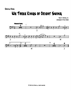 We Three Kings of Orient Swing: For string orchestra - double bass part by John H. Hopkins Jr.