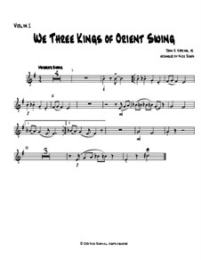 We Three Kings of Orient Swing: For string orchestra - violin I part by John H. Hopkins Jr.