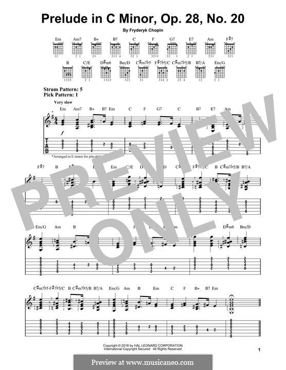 Nr.20 in c-Moll: Für Gitarre by Frédéric Chopin