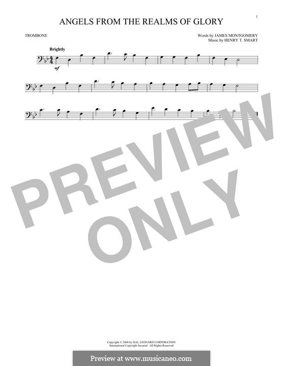 Angels, from the Realms of Glory: For trombone by Henry Smart