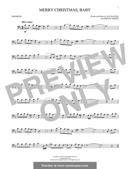 Merry Christmas, Baby: For trombone by Johnny Moore, Lou Baxter