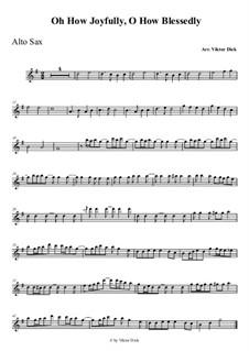 O du fröhliche: Für Altsaxophon by folklore