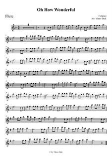 O How Wonderful: Für Flöte by folklore
