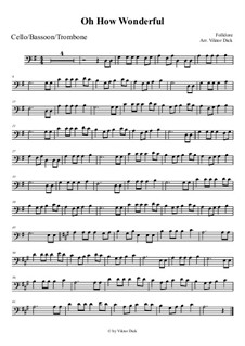 O How Wonderful: For trombone by folklore