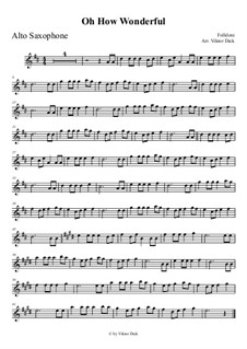 O How Wonderful: Für Altsaxophon by folklore