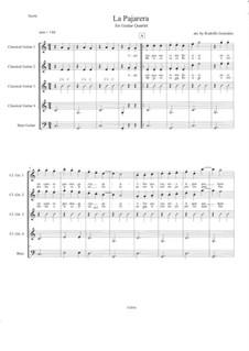 La Pajarera: For guitar quartet by folklore
