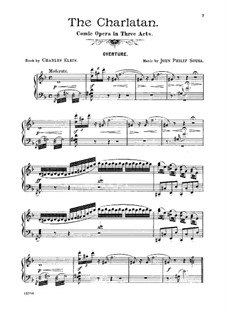 The Charlatan: Klavierauszug mit Singstimmen by John Philip Sousa