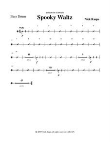 Drei Tänze für Halloween: Bass drum part by Nick Raspa