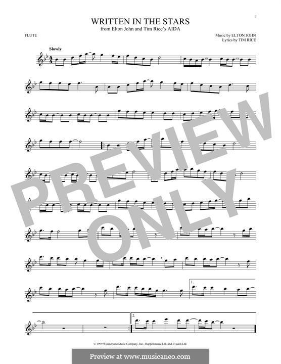 Written in the Stars: Für Flöte by Elton John