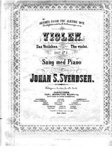 Zwei Romanzen für Stimme und Klavier, Op.25: Nr.1 Das Veilchen by Johan Svendsen