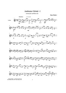 Ambiente Global I, for carillon solo: Ambiente Global I, for carillon solo by Hans Bakker