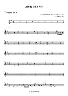 Abide with Me: For trumpet in B by William Henry Monk