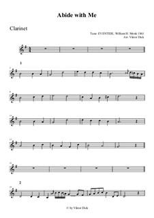 Abide with Me: Für Klarinette by William Henry Monk