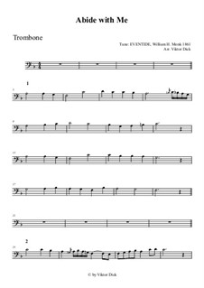 Abide with Me: For trombone by William Henry Monk